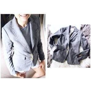 🌷• Gray Wool Blend Button Blazer •